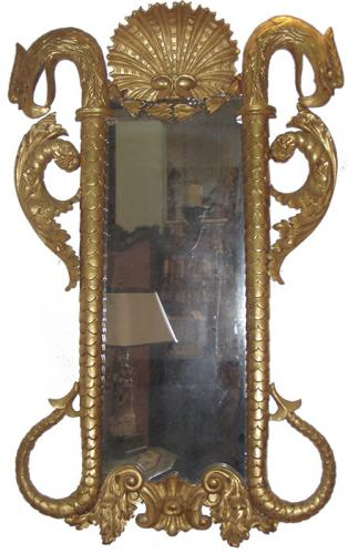 A Dramatic Early 19th Century Giltwood Pier Mirror No. 3647
