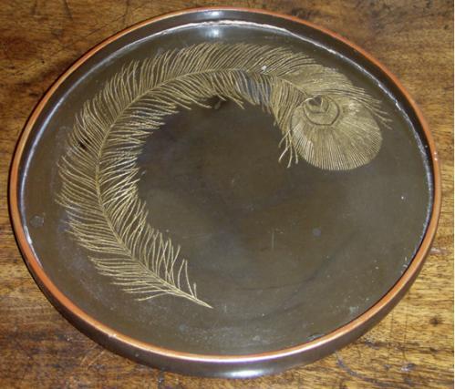 A Small Circular Japanese Papier-Mâché Tray No. 3690