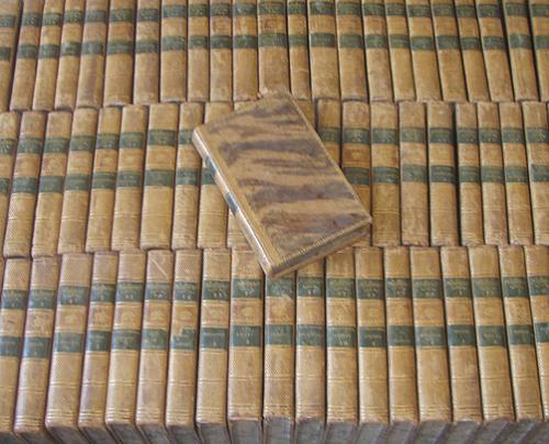 A Collection of 69 Antique Leatherbound Books by Voltaire, 1785 No. 3709