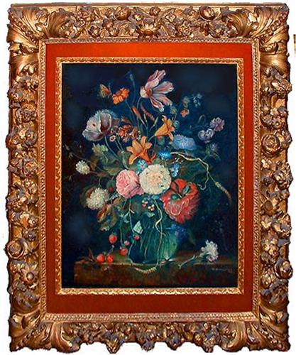 An 18th Century Oil on Canvas Floral Still Life No. 2368