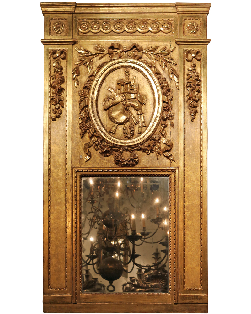 An Impressive 18th Century Louis XVI Gilt Trumeau Mirror No. 2831