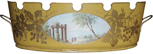 A 19th Century English Painted Tole Jardinere, No. 3810