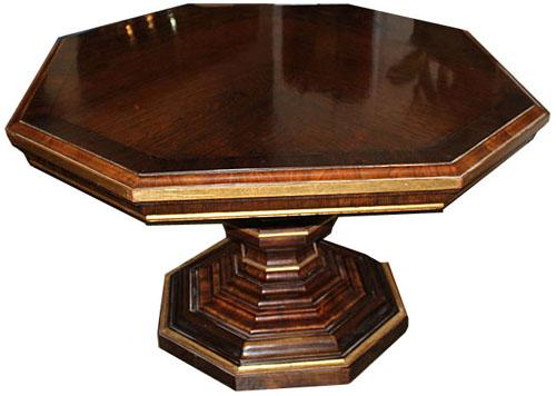 A 19th Century English Regency Rosewood and Parcel-Gilt Octagonal Center Table No. 2574