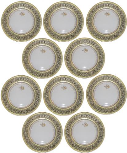 Set of Ten 19th Century Dinner Plates No. 3841