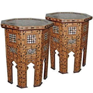 A Pair of 19th Century Moorish Levantine Octagonal Side Tables No. 3874