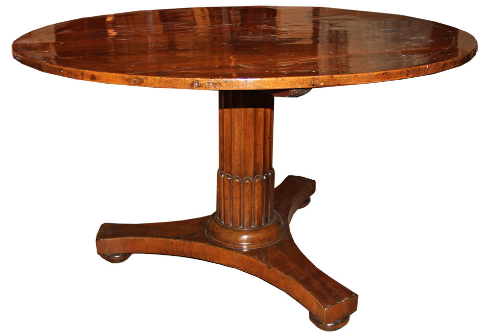 A Late 18th Century Italian Walnut Pedestal Table No. 2941