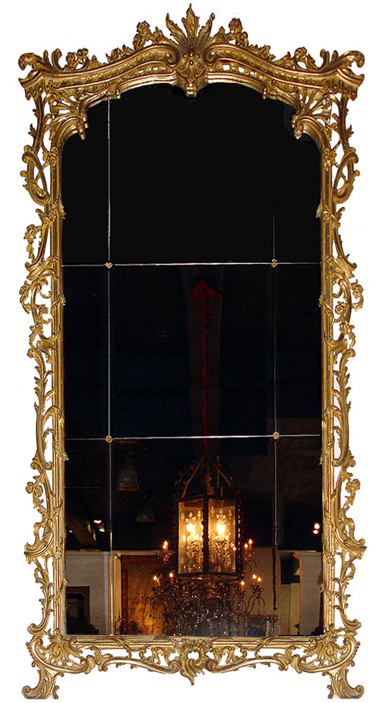 A Monumental Italian 18th Century Giltwood Mirror No. 2961