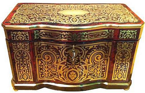 A Mid 19th Century French Boullework Box No. 3833