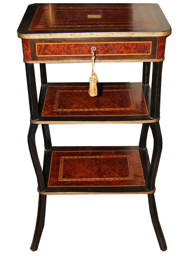 A Late 19th Century Bird's-Eye Maple Parquetry Chiffonier No. 3087