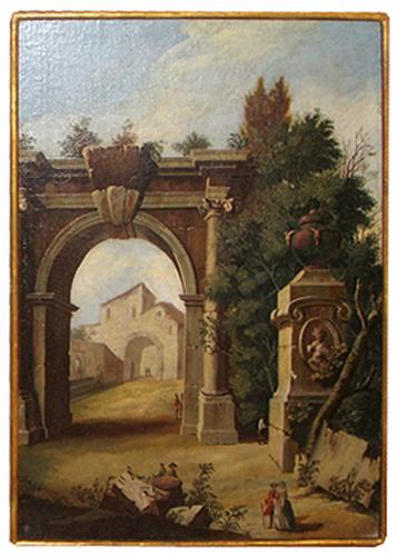"An 18th Century ""Capriccio"" Landscape Oil Painting No. 3864"