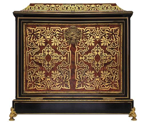 19th Century French Boullework Letter Box No. 4120