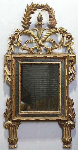 An 18th Century Italian Louis XVI Giltwood Mirror No. 3740