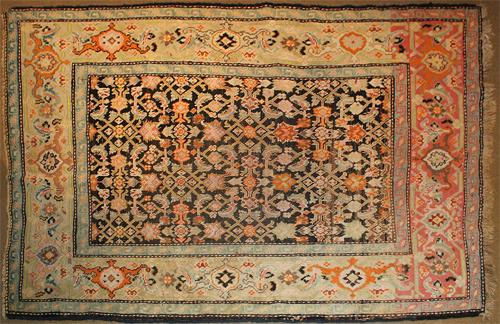 A 19th Century Hand Woven Wool Maloyir Rug No. 4209