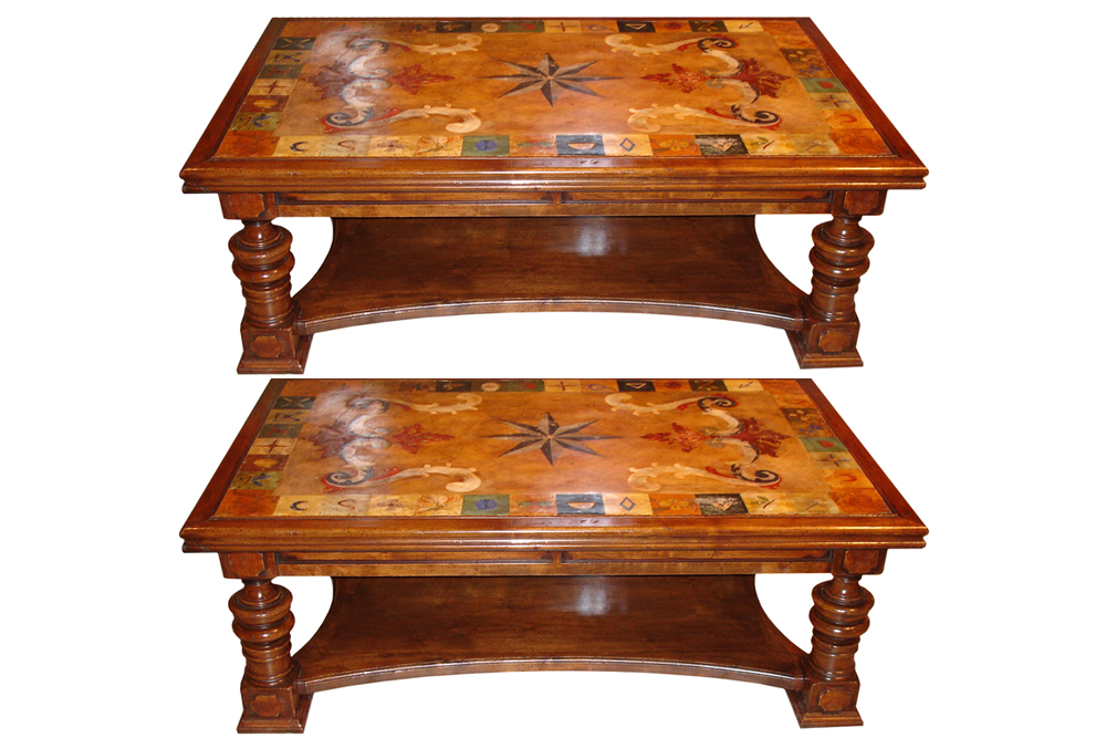 A Pair of Italian Scagliola Coffee Tables No. 3332
