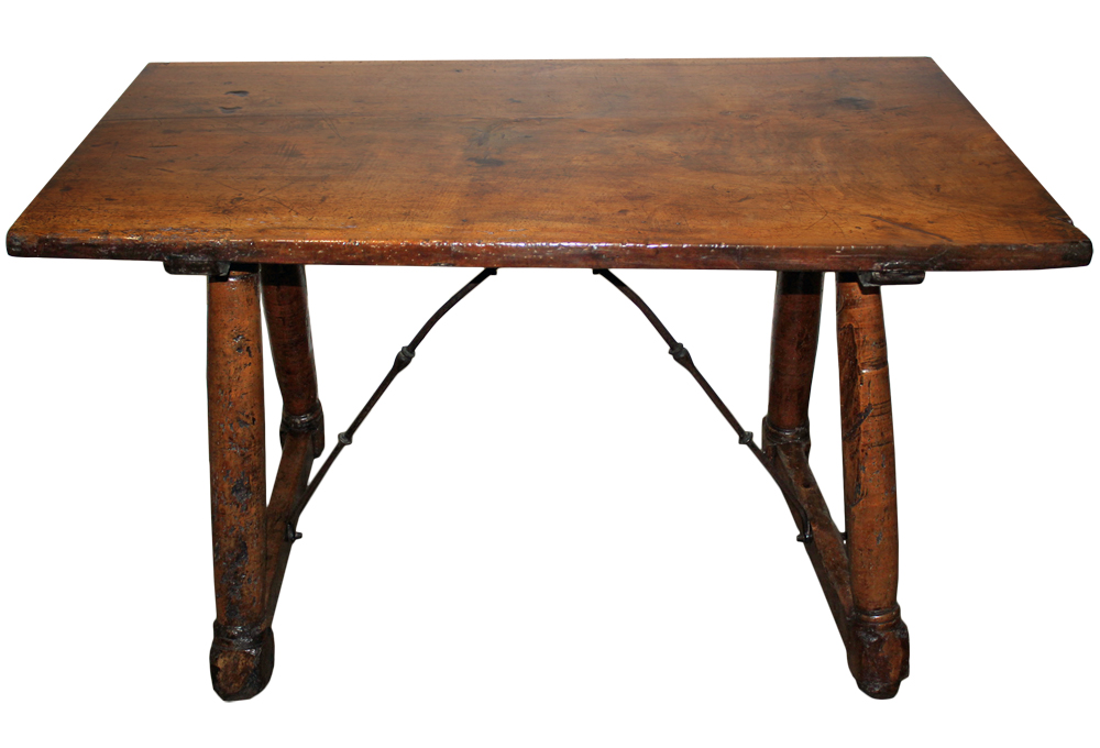 A 17th Century Walnut Rustic Trestle Table No. 3341