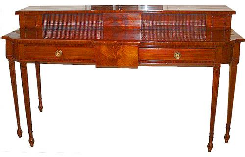 A 19th Century English Regency Two Drawer Mahogany Sideboard No. 1070