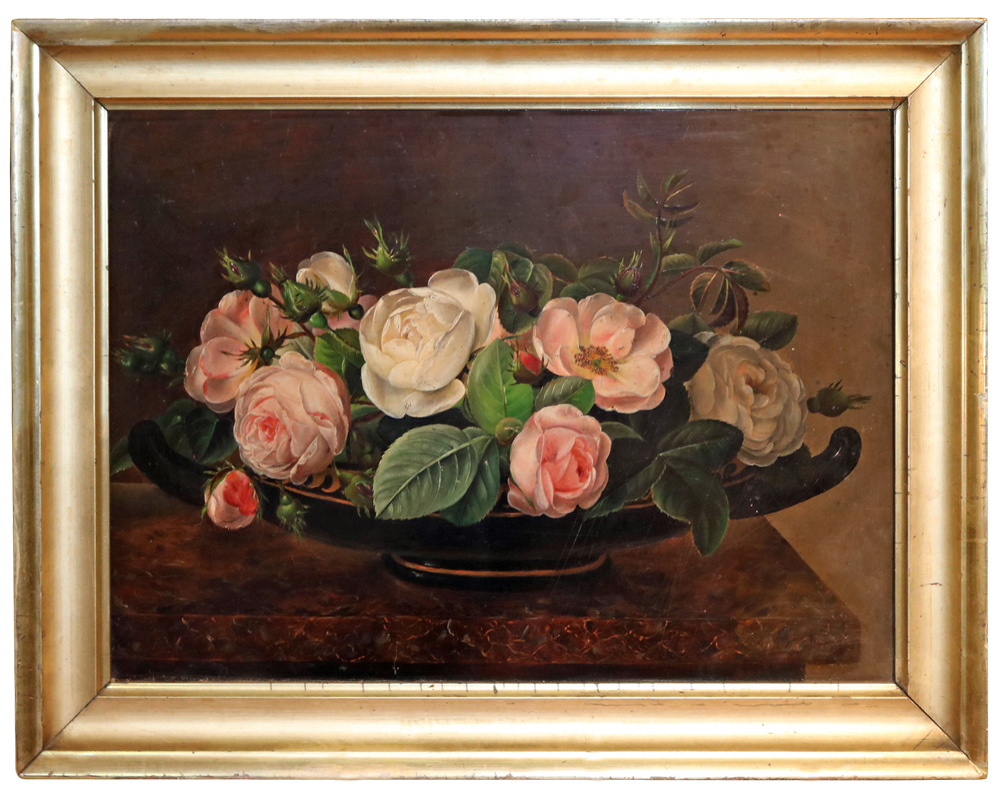 An 18th Century Dutch Still Life Painting of Roses No. 3391