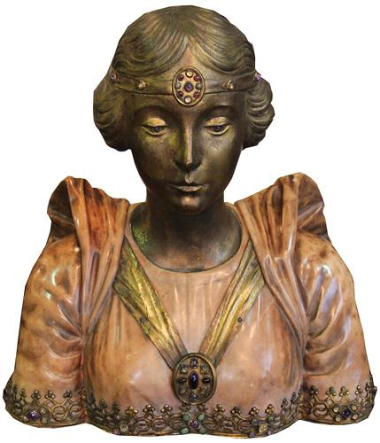 An English Art Nouveau Bust of The Royal Princess Mary, Countess of Harewood No. 4329