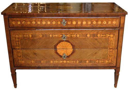 A Sophisticated 18th Century Italian Maggiolini Commode No. 4350