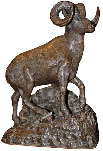 A Handsome Bronze Sculpture of a Big Horn Sheep No. 2404