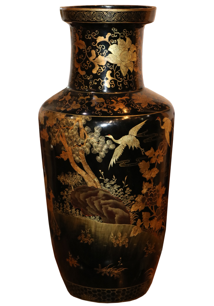 A Large-Scaled 19th Century Papier-Mâché Lacquered Urn No. 3512