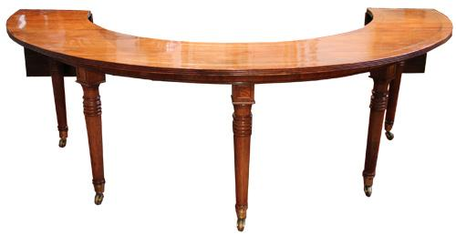 A 19th Century English Regency Semi-Circular Mahogany Hunt and Wine Display Table No. 4407
