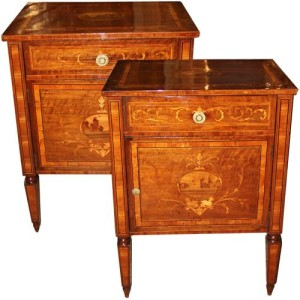 A Pair of 18th Century Italian Louis XVI Bedside Commodinos 4469