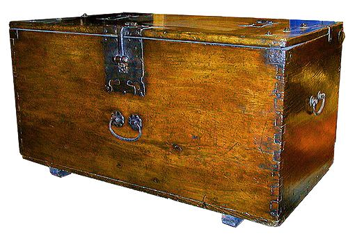 A Fine 18th Century English Oak Trunk No. 4327