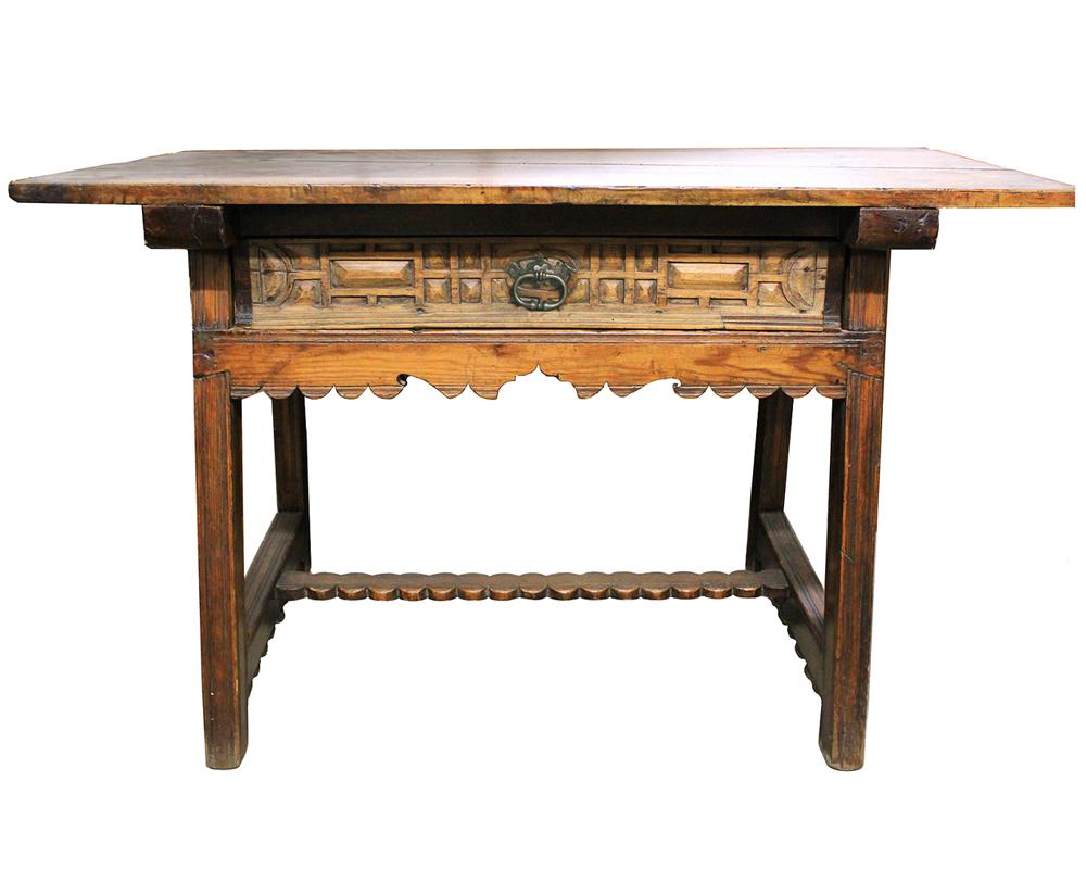 A 17th Century Spanish Walnut and Oak Trestle Table No. 4000