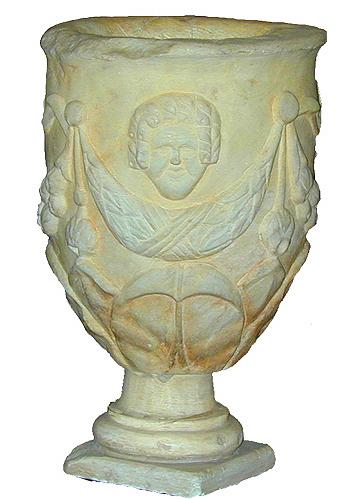 A Carved 18th Century Roman Marble Urn No. 2128
