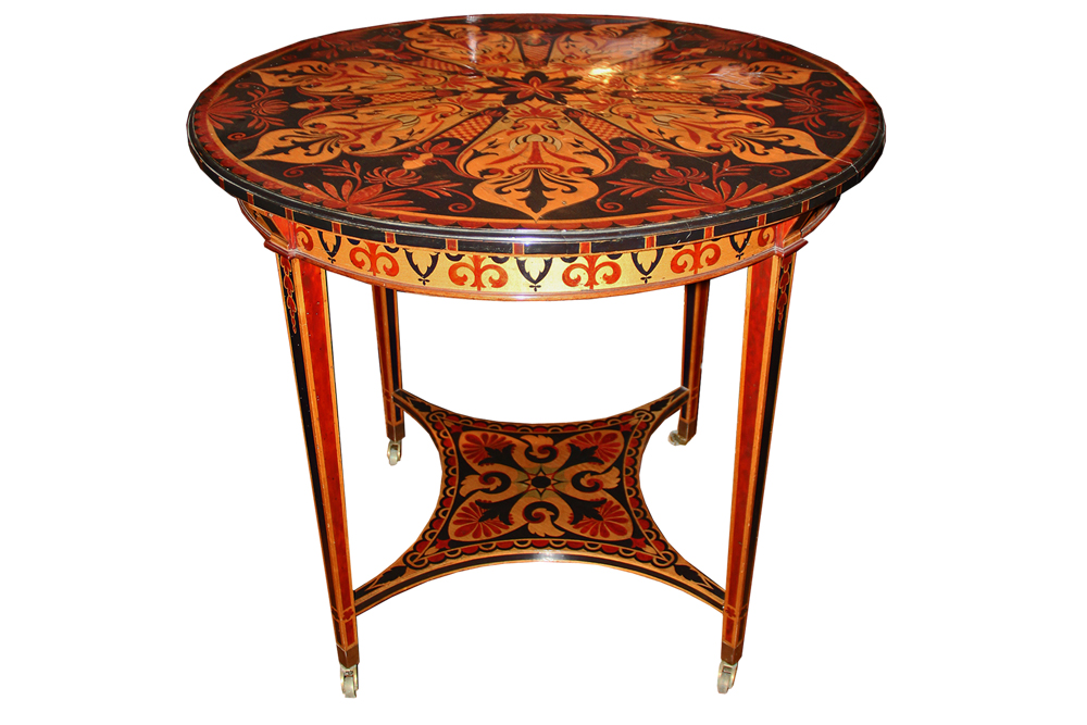 A 19th Century Sicilian Polychrome Gueridon Side Table No. 4130