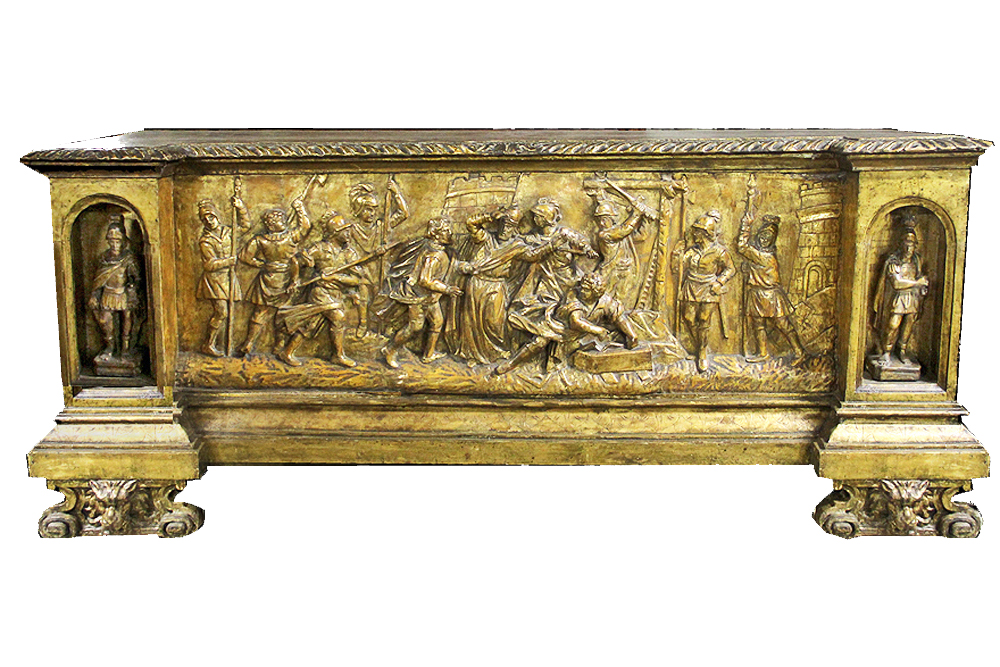 A Late Renaissance Italian Giltwood Marriage Cassone No. 4133
