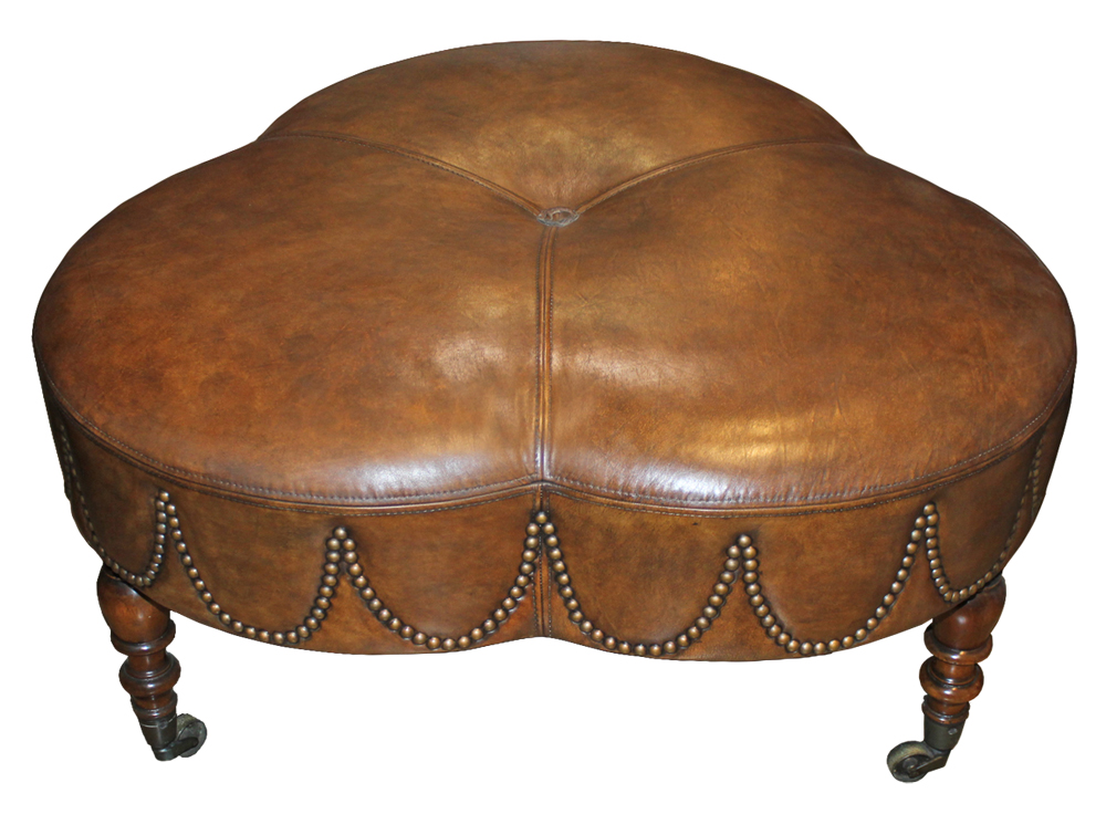 A 19th Century French Clover Leaf Ottoman No. 4154