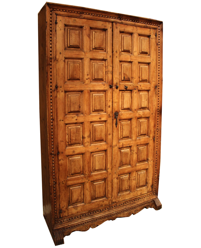 A Late 18th Century Spanish Carved Elm Armoire No. 4185