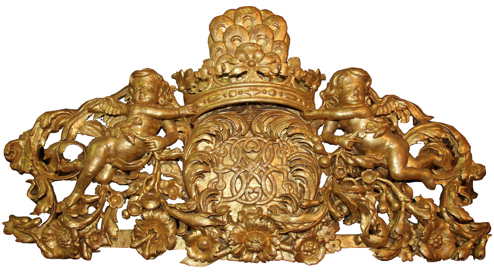 An Elaborate 18th Century Giltwood Architectural Element No. 4256