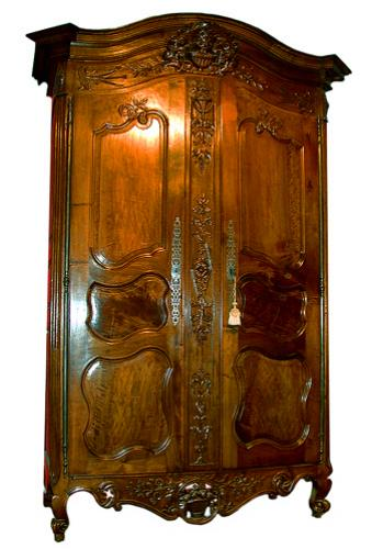 A Very Fine 18th Century French Walnut Louis XV Armoire de Mariage No. 892