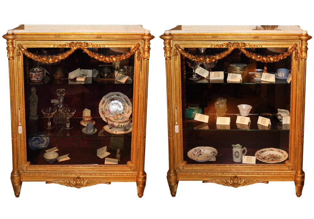 A Pair of 19th Century French Napoleon III Giltwood Vitrines No. 439