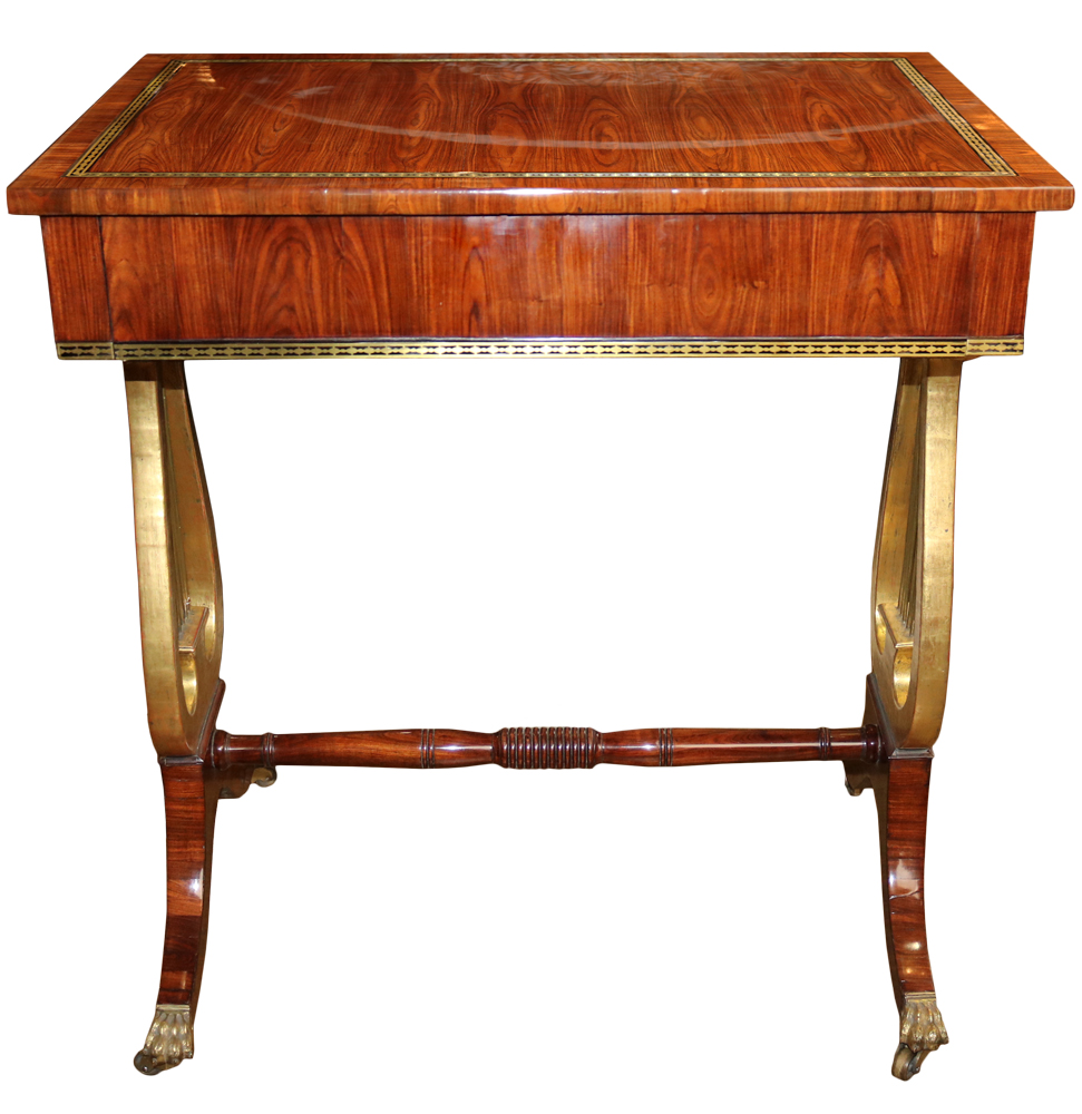 A 19th Century English Rosewood and Parcel-Gilt Side Table No. 4403
