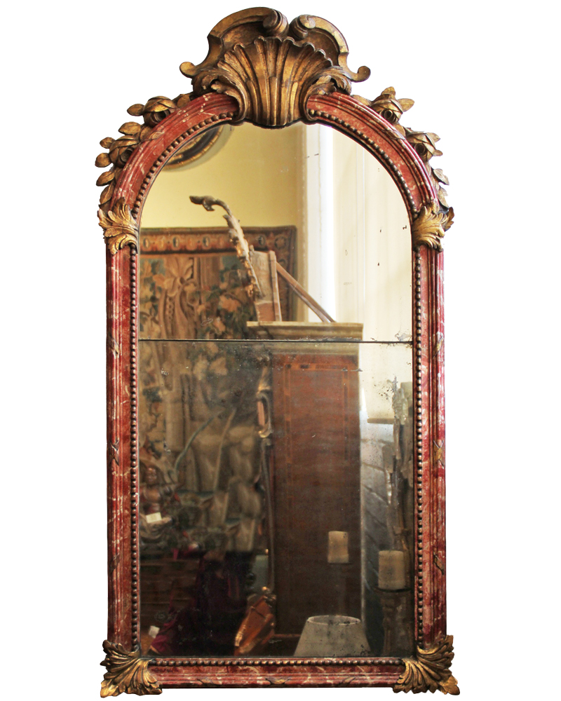 An 18th Century Italian Polychrome and Parcel-Gilt Mirror No. 4424