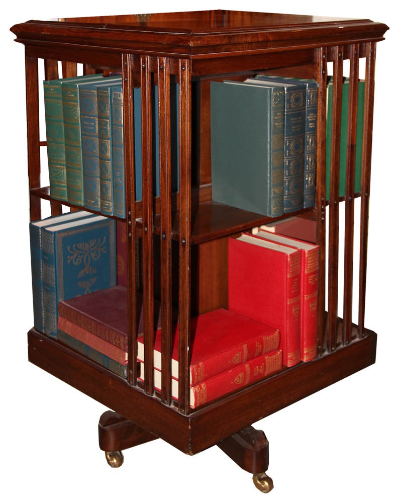A 19th Century American Walnut Revolving Library Stand No. 512