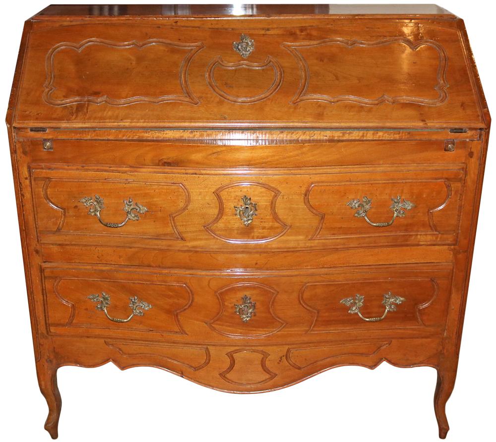 An 18th Century French Louis XV Walnut Bureau No. 592