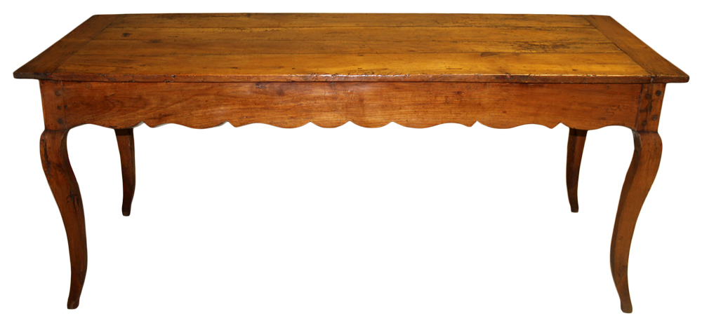 A 19th Century French Louis XV Cherrywood Farm Table No. 605