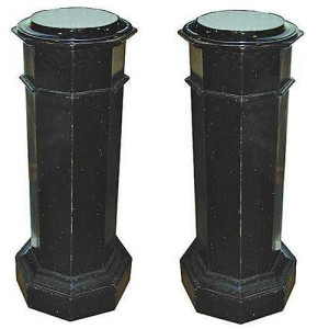 A Pair of 19th Century Italian Ebonized Pedestals No. 1754