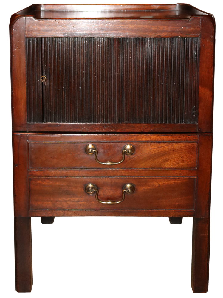 An 18th Century English Mahogany Roll Door Cabinet No. 671