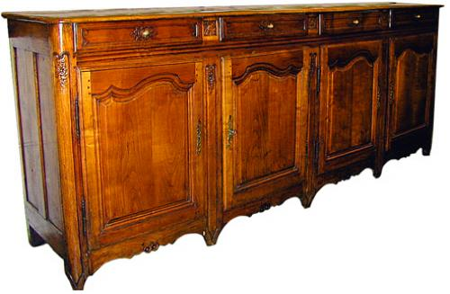 An 18th Century French Provincial Cherry Wood Four-Door Enfilade No. 1053