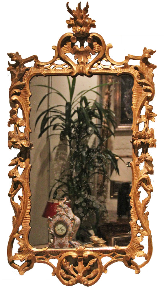An 18th Century English Chippendale Giltwood Mirror No. 771