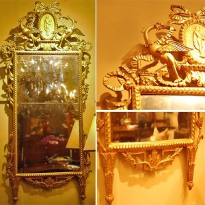 An Elegant 18th Century Luccan Giltwood Pier Glass Mirror No. 595
