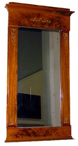A Fine 19th Century French Ormolu Mounted Mahogany Charles X Trumeau Mirror No. 393