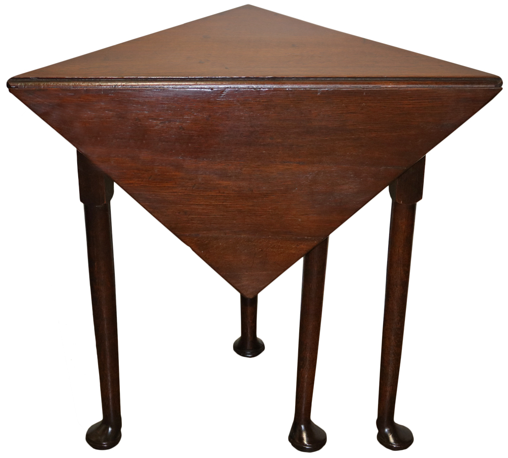 An Early 18th Century Queen Anne Well-Patinated Oak Envelope Table No. 82