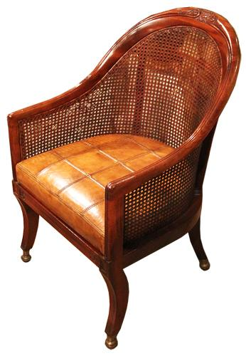A Fine 19th Century Regency Mahogany Barrel Desk Chair No. 2226